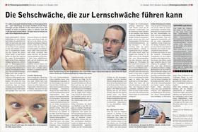 Zeitungsartikel Schweiz am Sonntag